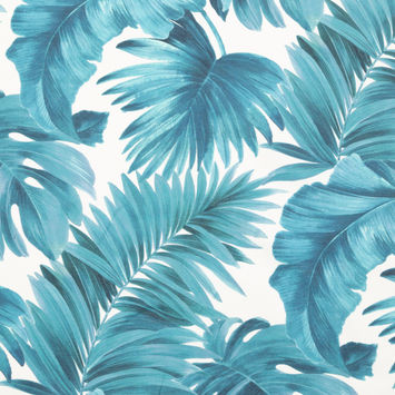 Blue Tropical Leaves Printed Woven-124617-10