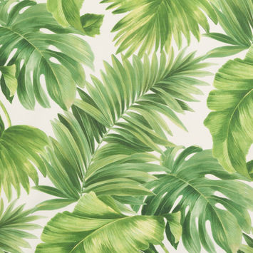 Foliage Tropical Leaves Printed Woven-124618-10