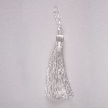 3.5 White Basic Tassel