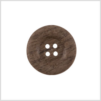 Brown Wood Button - 36L/23mm