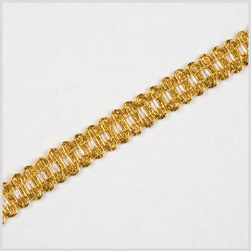 Gold White Metallic Braid