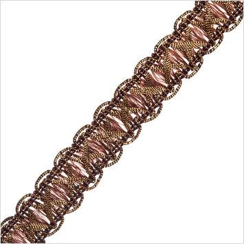 Antique Gold Brown Metallic Braid