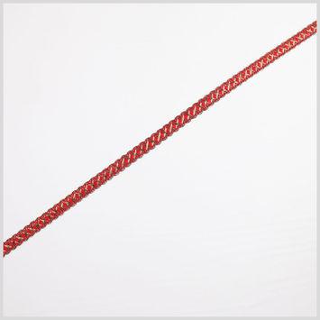 Antique Gold Red Metallic Braid