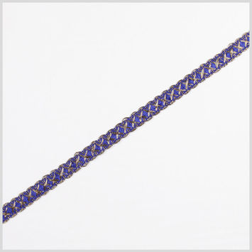 Gold/Blue Metallic Braid