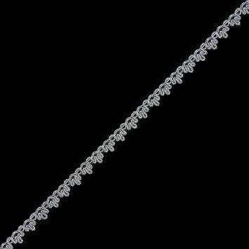0.5 American Made Metallic Silver Braided Trim