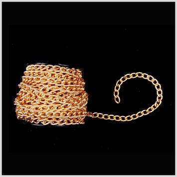 7/16 Gold Aluminum Metal Chain