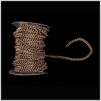 1/4 Antique Gold Aluminum Metal Chain
