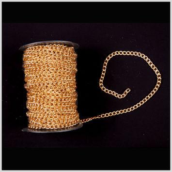 3/16 Gold Aluminum Metal Chain