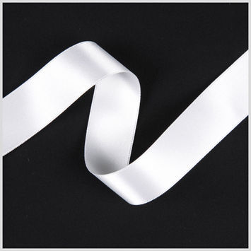 2.5 Off-White Double Face French Satin Ribbon