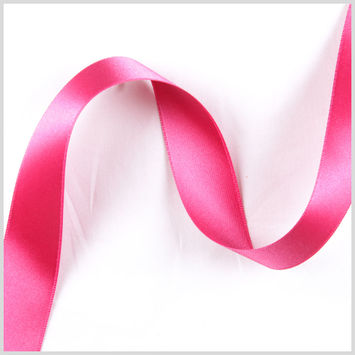 7/8 Hot Pink Double Face French Satin Ribbon