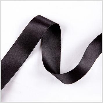 7/8 Black Double Face French Satin Ribbon