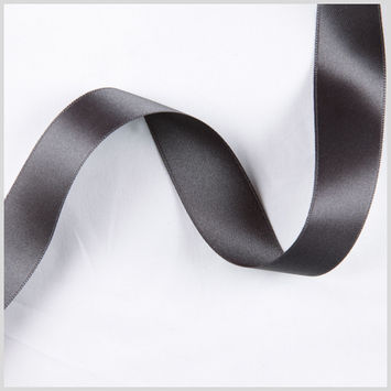 7/8 Charcoal Double Face French Satin Ribbon