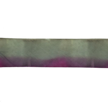 Fuchsia and Yellow Ombre Hand Dyed Silk Ribbon - 3.75