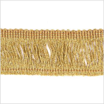 2 Gold Metallic Fringe