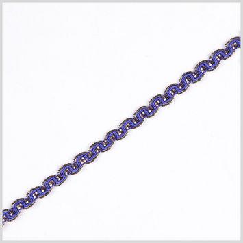 Royal/Gold Metallic Braid