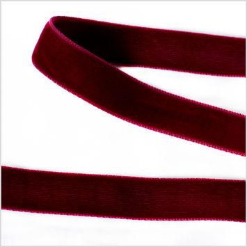 Burgundy Double Face Velvet Ribbon - 5/8