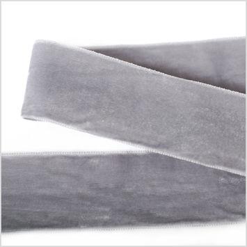 Light Gray Double Face Velvet Ribbon - 1.5