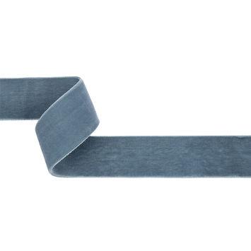 Dusty Blue Double Face Velvet Ribbon - 1.5