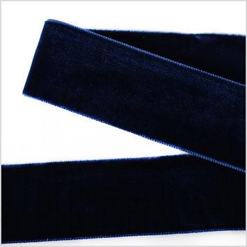Navy Double Face Velvet Ribbon - 1.5