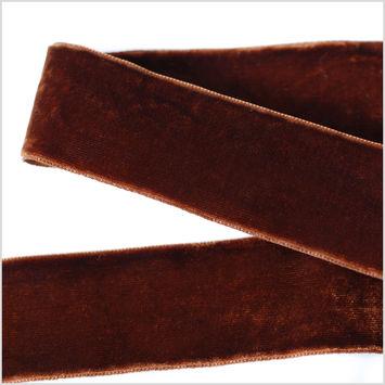 Brown Double Face Velvet Ribbon - 1.5