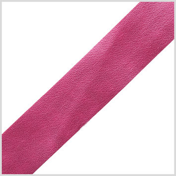 Italian Metallic Pink Plain Faux Leather Ribbon - 0.75