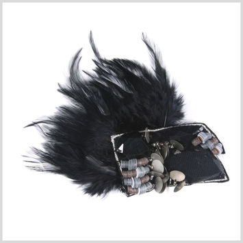 Black Brooches Feathers