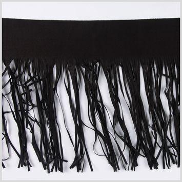10 Black Suede Fringe