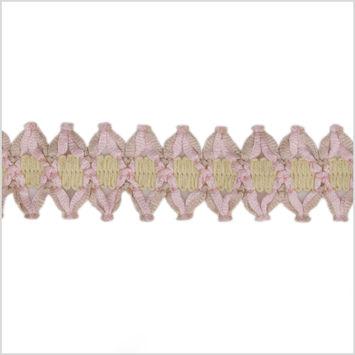 Ivory Pink Braided Trim