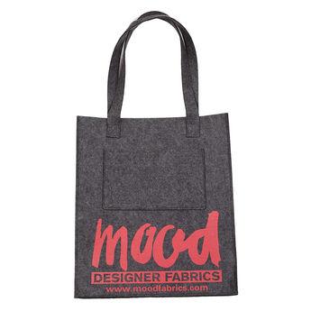 Charcoal Felt Mood Bag with Cayenne Logo