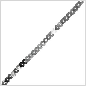 0.25 Single Row Silver Sequined String