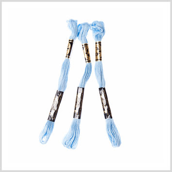 3-Pack DMC Size 6 Embroidery Floss #3325 Light Baby Blue
