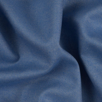 Heathered Blue Bonnet Cotton-Tencel Double Sided Brushed Flannel