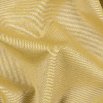 Heathered Misted Yellow Cotton-Tencel Double Sided Brushed Flannel