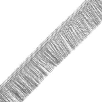 Silver Metallic Polyester Fringe Trim - 2.25