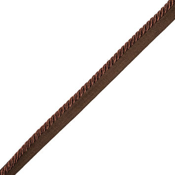 Chocolate Cotton Blend Twisted Cord Trim - 0.25
