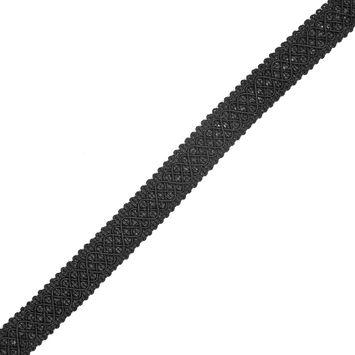 Black Lattice Braided Trim - 1