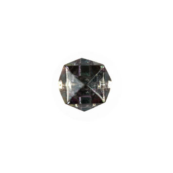 Faceted Cube Glass Button - 18L/12mm