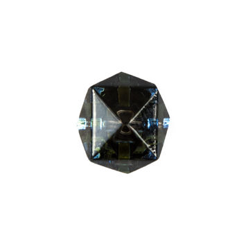 Faceted Cube Glass Button - 24L/14mm