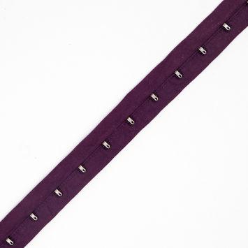 1 Purple Cotton Hook & Eye Tape