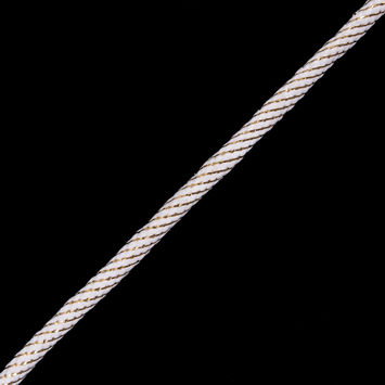 Ivory Cord with Metallic Gold Thread - 3/8