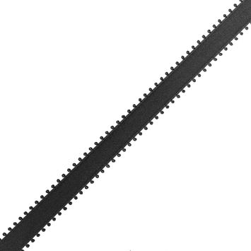 Black Picot Edged Satin Ribbon - 15mm