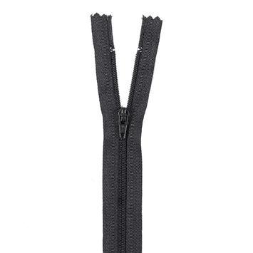 Black Regular Zipper with Nylon Coil - 24