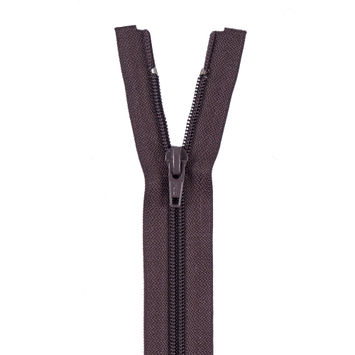Brown Separating Zipper with Nylon Coil - 15