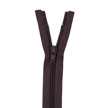 Brown Regular Separating Zipper - 13.5