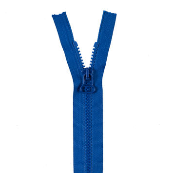 Blue Separating Chain Zipper with Plastic Molded Teeth - 12