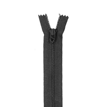 Black Closed Bottom Zipper - 5