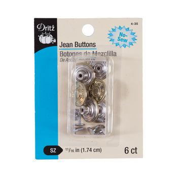 Dritz Gold Jean Buttons - 6 ct