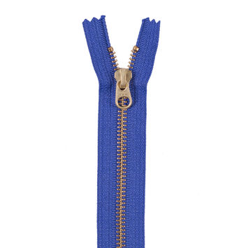 Iris Metal Zipper with Gold Pull and Teeth - 8