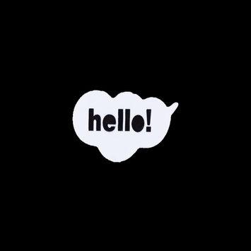 Hello! Pin - 2.5x1.5