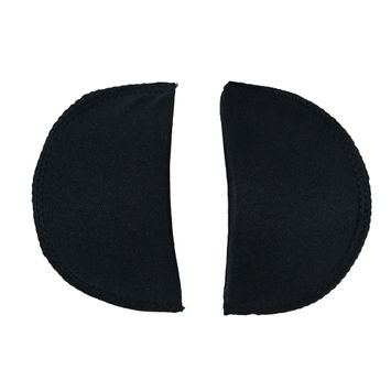 Foam Shoulder Pads Covered with Black Polyester - 5.5 x 3.25 x .5
